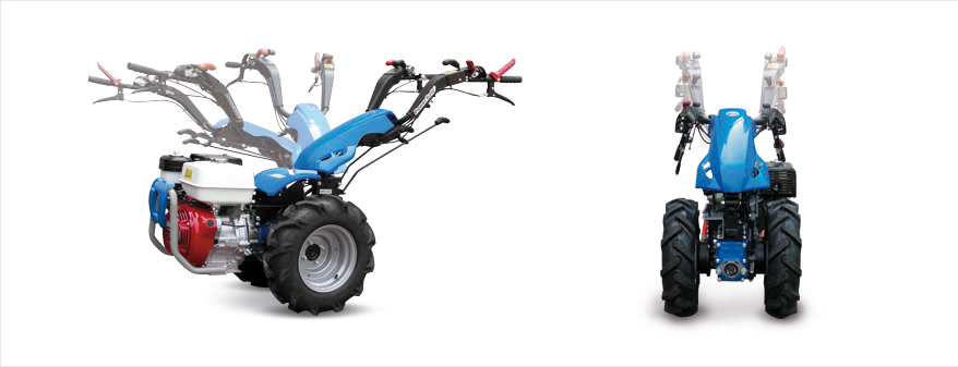 Motocultores BCS con manceras regulables y reversibles