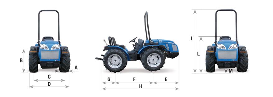 BCS Tractor Invictus dimensiones y pesos