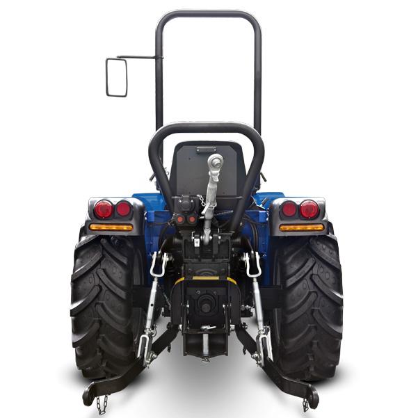 Vista posterior del tractor BCS Invictus K300-K400