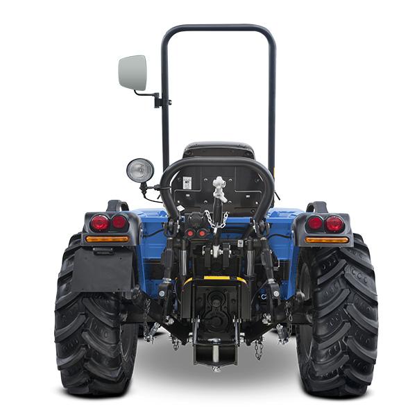 Vista posterior del tractor BCS Invictus K600