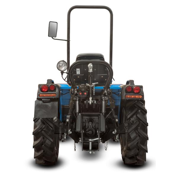 Vista posterior del tractor BCS Valiant V650