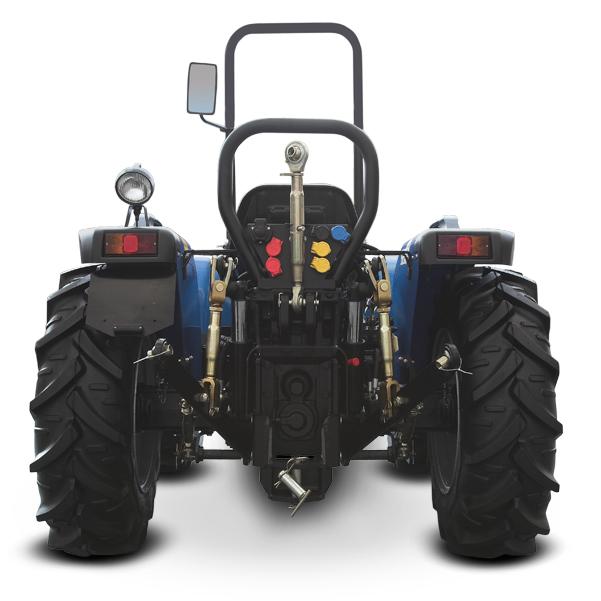 Vista posterior del tractor BCS Vithar 750-850-950