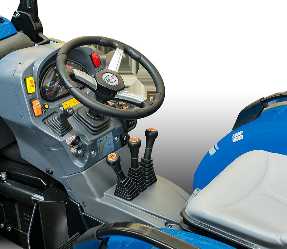 Condução e segurança do trator BCS Vithar K105 rígido