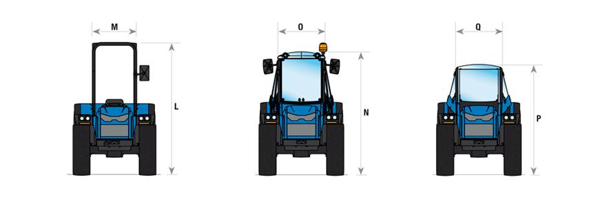Cotas para el tractor Volcan 850-950 SDT BCS - 02