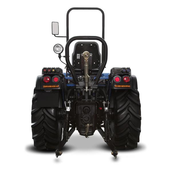 Vista posterior del tractor BCS Volcan 850-950