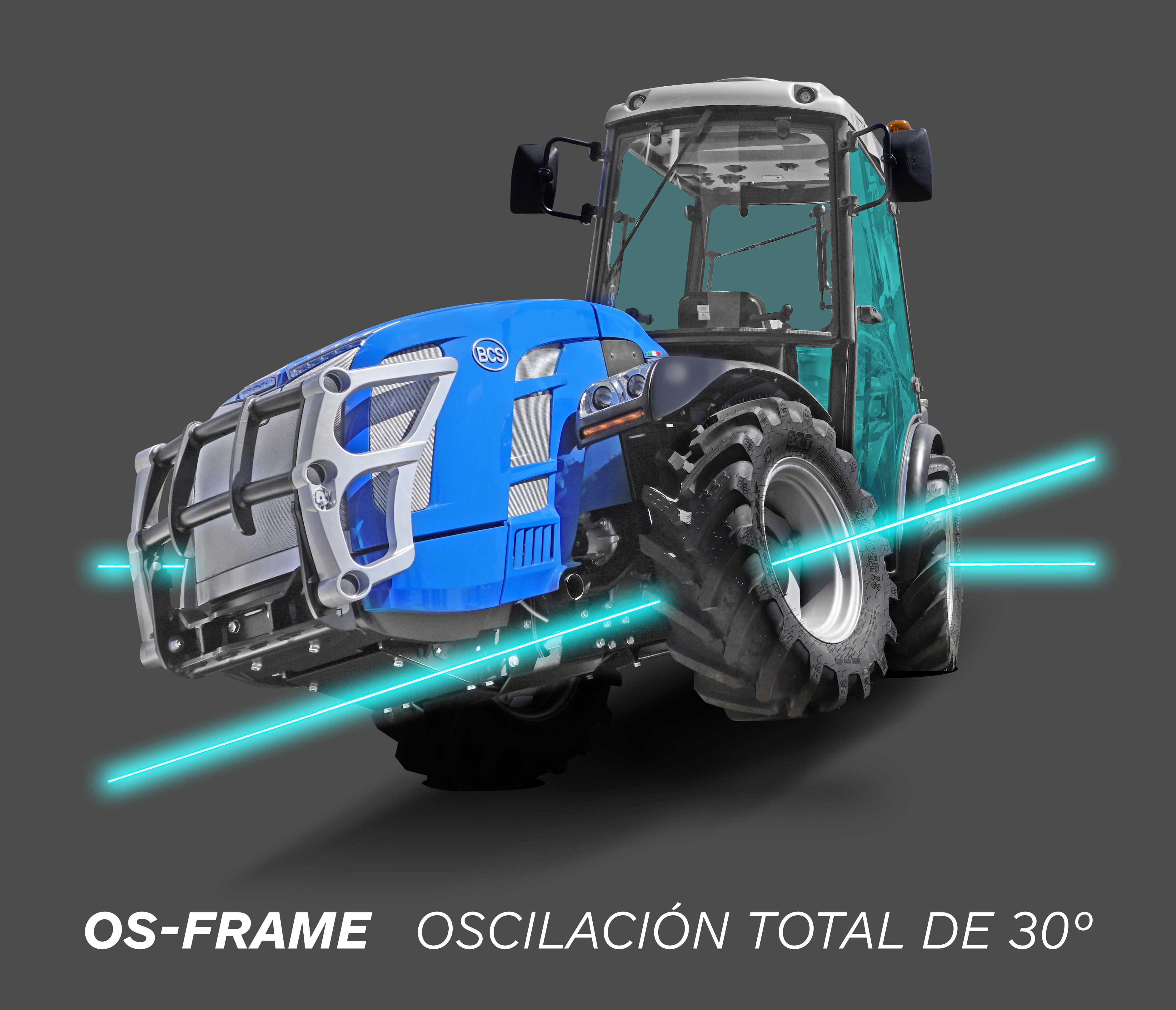 chasis basculante os-frame tractor BCS