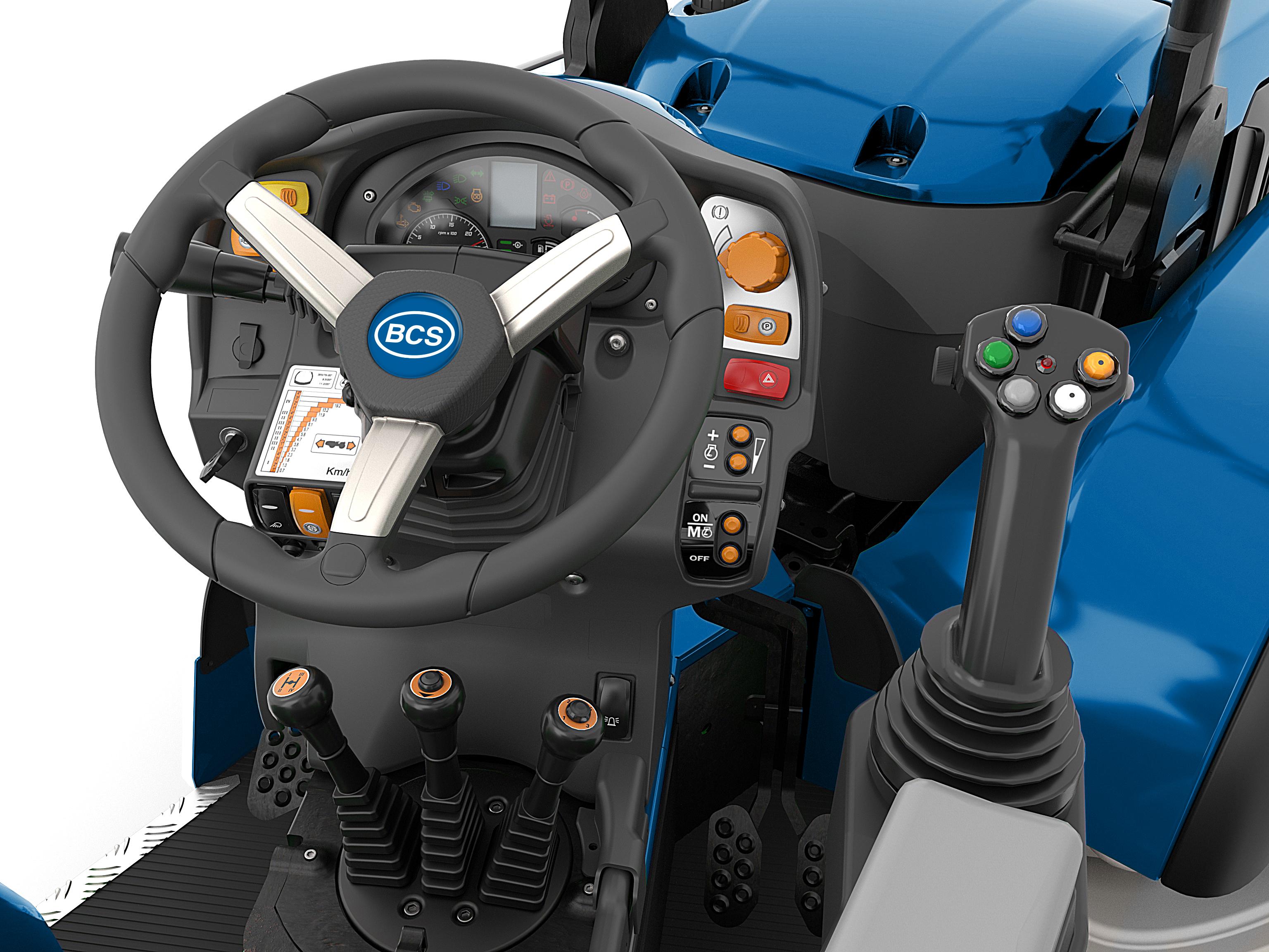 Conducción y seguridad tractor Volcan 85 AR - BCS Agrícola