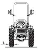Dimensiones y pesos tractor BCS Invictus K400 SDT