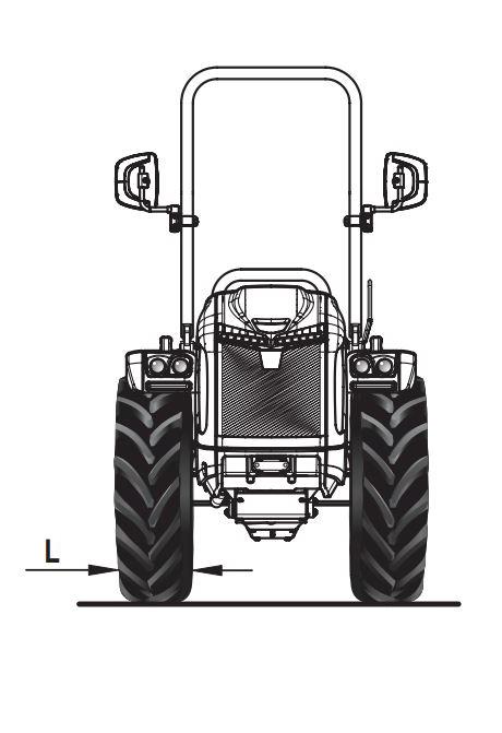 Dimensiones y pesos tractor BCS Vithar L80 articulado