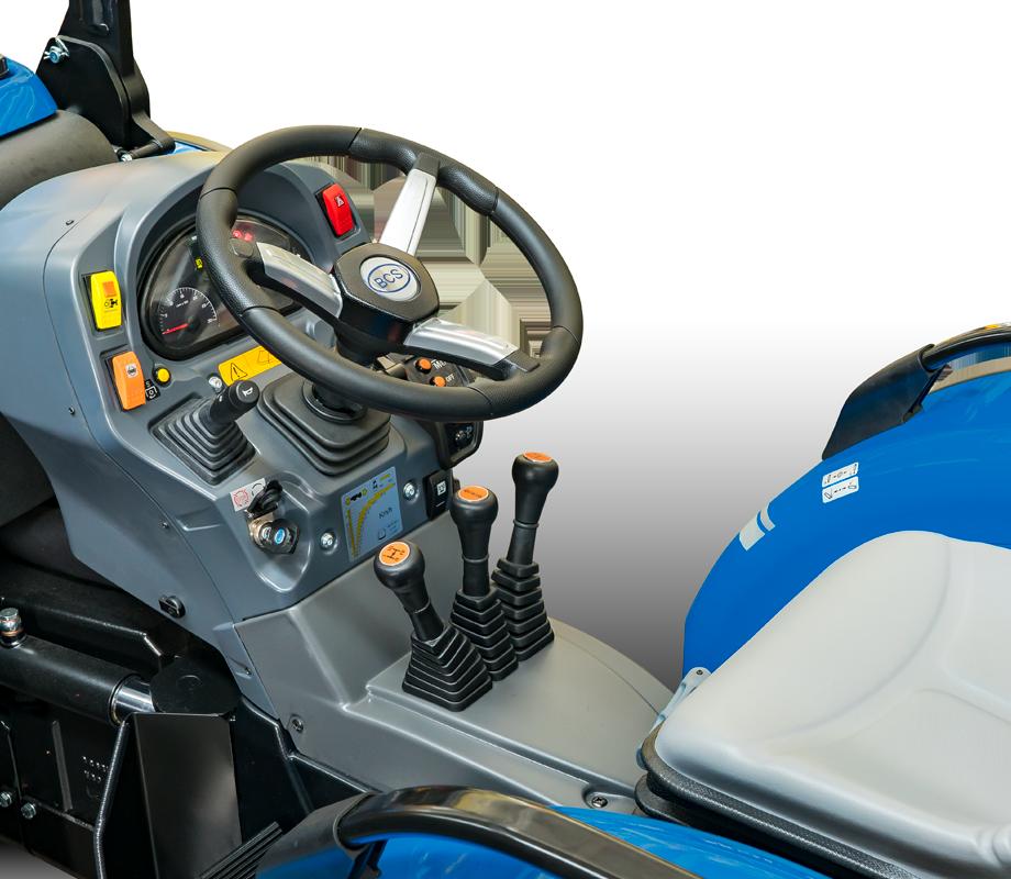 Condução e segurança do trator BCS Vithar L80 articulado