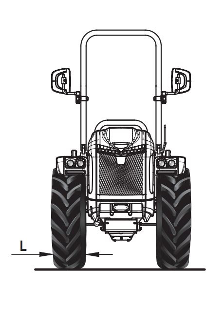 Dimensiones y pesos tractor BCS Vithar L80 rígido