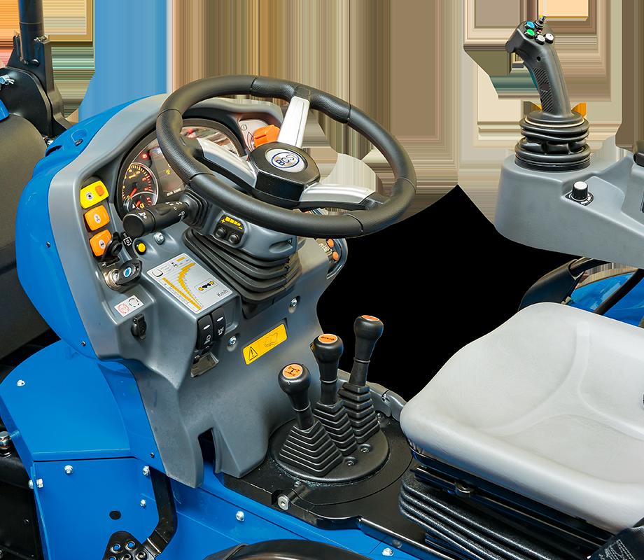 Conducción y seguridad tractor BCS Volcan L80 AR