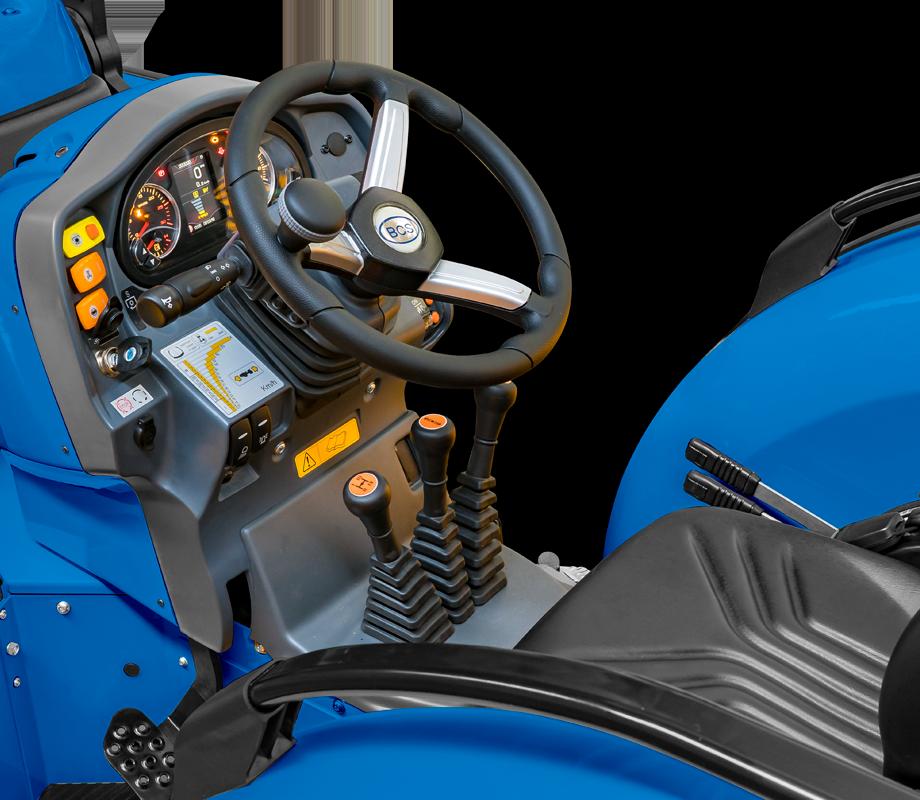 Condução e segurança do trator BCS Volcan L80 SDT Dualsteer