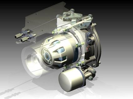 Diseño en 3D del embrague Powersafe