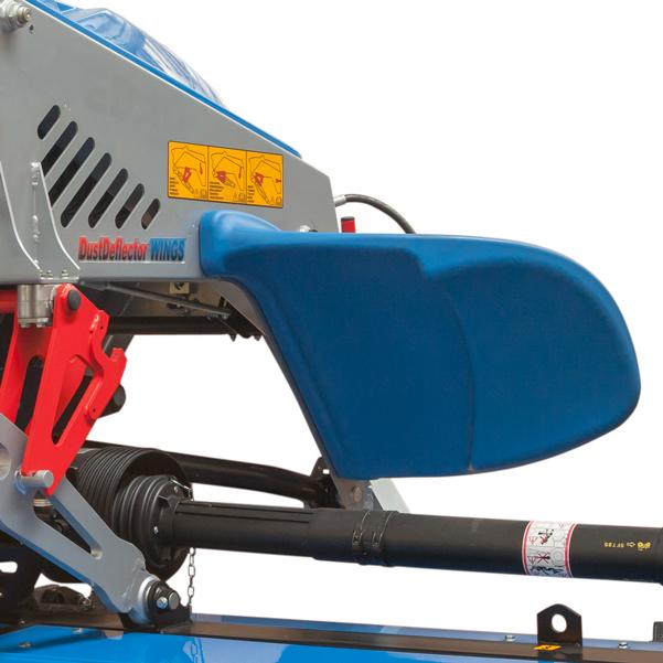 Aletas deflectoras de la segadora para tractor BCS Neva