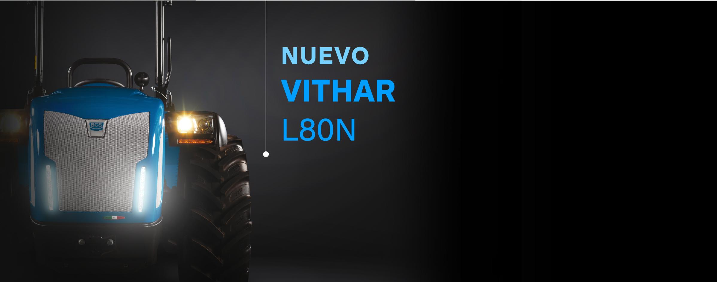 Nuevo Vithar L80N - tractor compacto con el capó más bajo de la gama alta