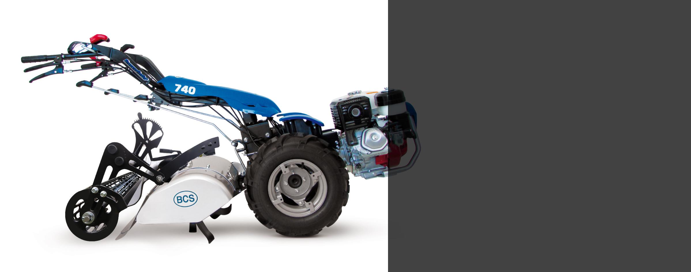 MOTOCULTOR 740 Gasolina / arranque eléctrico + rodillo nivelador PDR